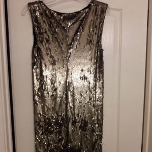 Alice & Olivia gold and bronze Sequin Dress